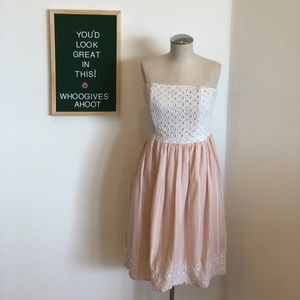 Concious Collection Strapless Eyelet Dress